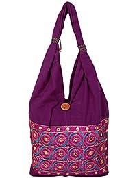 Womaniya Women's Shoulder Bag (Purple-Woman-893)