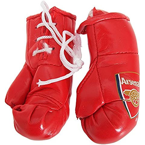 Fútbol Mini Boxeo Guantes - Arsenal FC, Aproximado 9cm x 5cm x 4cm