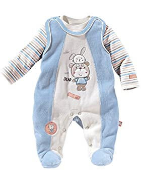 Bornino 2-tlg. Set Nicki-Strampler mit Langarmshirt/Basics Baby Bekleidung Junge/hellblau/beige