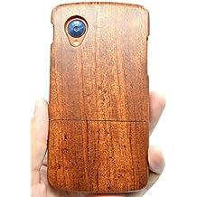 RoseFlower® LG Google Nexus 5 Funda de Madera - Bois de rose - Natural Hecha a mano de Bambú / Madera Carcasa Case Cover con GRATIS Protector de Pantalla para tu Smartphone