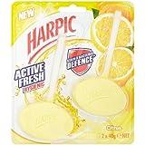 Harpic actif frais jumeaux Rim Bloc Citrus 2 x 40g