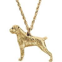 Boxer Made in UK, Collezione Pendente Collana Artistici Stile Cani