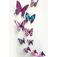 Mayitr 12 St Motiv PVC-Aufkleber Schmetterling Deko 3D-Aufkleber