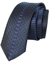 Kebello - Cravate Soie Slim bleu