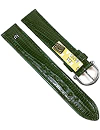 Maurice Lacroix Replacement Band Watch Band genuine Teju-lizard-Leather green 21553S, width:18mm