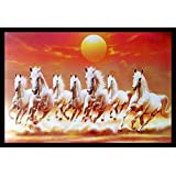 Incredible Horse Painting Exclusive Framed Wall Art Paintings Framed Size (12 inch x 18 inch, (Wood 35 cm x 2 cm x 50 cm, Special Effect Textured)