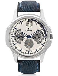 Calvino White Dial Analog Watch For Men/boys CGAS_17668_BLUE_WHT