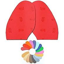Desconocido Vibram - Media Suela Colores Zapato Mujer Rojo Reparación Kit
