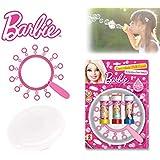 Set infantil juguetes (frisbee + multi trompeta de pompas) con varios motivos - Barbie