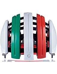 Carrera, Casco da ciclismo Foldab GTE, Verde/Bianco/Rosso (Italien Flag), 55-58 cm
