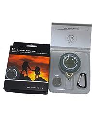 Koolertron Smart 6 in 1 Digital Wasserdicht LCD Digital Kompass & Höhenmesser & Barometer & Thermometer Uhr für Wandern Camping Angeln