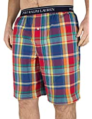 Polo Ralph Lauren Homme Logo Mallorca Plaid Pyjama Short Sleep Court, Multicolore