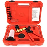 Amzdeal® Pompe manuelle à dépression liquide de frein Testeur à vide et Appareil de purge 6 adaptateurs avec Coffret rouge