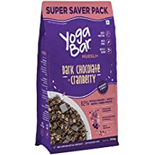Yogabar Wholegrain Breakfast Muesli - Dark Chocolate + Cranberry, 700g (Super Saver Pack)