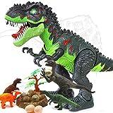 HANMUN Electronic Toys Tyrannosaurus Rex - Dinosaurio para Caminar con Luces y Sonidos, Movimiento Real