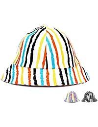 Roffatide Mujer Hombre Rayas de Colores Algodón Sombrero de Cubo Summer Al  Aire Libre Spire Sombreros 8f2f30d17a1