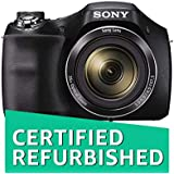 (Renewed) Sony DSC-H300B 20.1MP Cyber-Shot Point and Shoot Digital Camera (Black) with 35x Optical Zoom with Memory Card and Camera Case