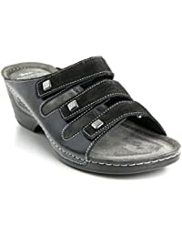 ce734c26dad5 Batz Manna Ladies Womens Leather Slip-On Sandals Clogs