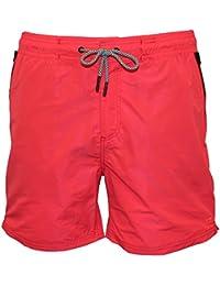 Scotch & Soda Classic Bicolore Homme Nage Shorts, Corail Avec Marine