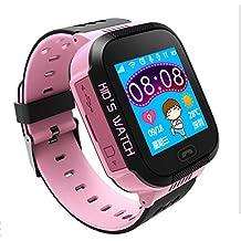 Ming 1.44 Plgadas Reloj Infantil Inteligente Smartwatch para Niños Con llamada Toque HD Pantalla SOS GPS Linterna Cámara Despertador Compatible con Android IOS App