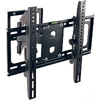 TRESKO TV montaggio a parete Supporto TV inclinabile LCD orientabile schermi TV, Adatto a LED, LCD e Plasma con 66 - 138cm (26 - 55