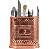DECOHOME Rose Kitchen Tools Stainless Steel Utensil Organizer Holder –Ideal for Dining Table, Party, Buffet, Kitchen, Picnics, Cutlery Holder.