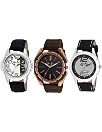 Pappi-Haunt - Pack of 3 - Analog Wrist Watch for Men, Boys