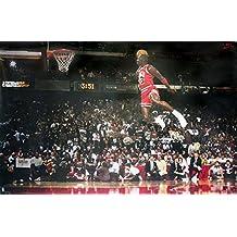 Póster Michael Jordan Slam Dunk Contest (Mate) (88cm x 59,5cm) + embalaje para regalo