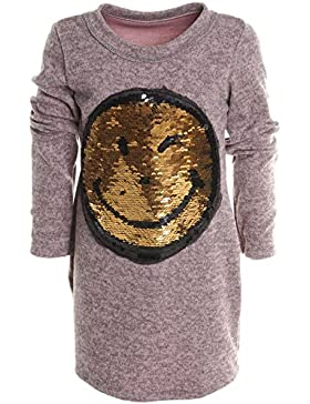 Mädchen Longshirt Bluse Shirt Pullover Langarmshirt Strickkleid Sweatshirt 20676