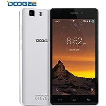 Smartphone Libre, DOOGEE X5 PRO Móviles y Smartphones Libres (Doble SIM, Pantalla de 5.0 Pulgadas HD, 2G RAM, 16G ROM, Flash de Doble Cámara LED, OTG, Smart Wake) - Blanco