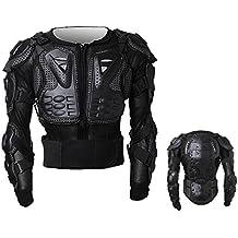 Peto Integral Moto, Motocross, Enduro, chaqueta Proteccion NEGRO M L XL XXL XXXL (M)