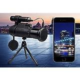 Wireless WiFi HD Outdoor 40 x 60 IR Nachtsicht Ger/ät Teleskop f/ür iOS//Android