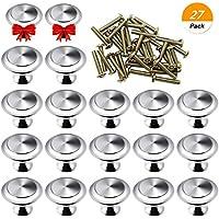 SelfTek 25 Piezas de Perillas de Gabinetes de Cocina con Cajones Redondos con 2 Piezas de