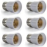 AWE-LIGHT E27 a E27 Adaptador de Bombilla Lampara LED Convertidor Base Enchufe de Tornillo, 6 unidades