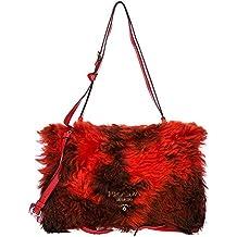 Prada bolsos con asas largas para compras mujer nuevo rojo