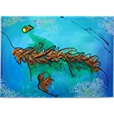 Original MisQue Art | Abstraktes Acrylbild Meeresblick 50x70 cm