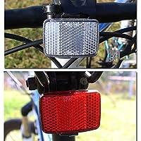 Qewmsg Bicicleta Reflectante Lente MTB Carretera Bicicleta Auto Reflectores Ciclismo Luz de Advertencia