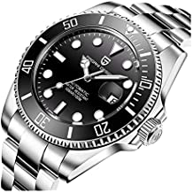 237e863ab3ff Reloj automático analógico Resistente al Agua Pagani Design para Hombre con  Correa de Acero Inoxidable