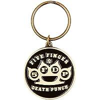 Five Finger Death Punch Brass Knuckles Portachiavi - Logo Ufficiale Pendente Logo A Pendente
