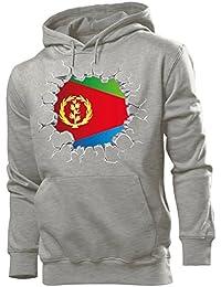 ae2699c35a love-all-my-shirts Fussball Fanhoodie Eritrea Männer Herren Hoodie Pulli  Kapuzen Pullover
