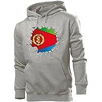 love-all-my-shirts Fussball Fanhoodie Eritrea Männer Herren Hoodie Pulli Kapuzen Pullover Fanartikel