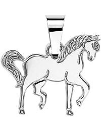 Helios Bijoux-Colgante con forma de caballo de plata maciza 925° ° °-