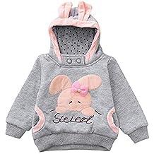 Sudaderas Bebé Niña, ❤ Amlaiworld Sudadera con Capucha de Conejo de Dibujos Animados de