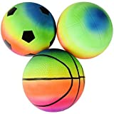 Day Mini Sports Toy Ball Set For Toddlers, Playground Bouncing Balls For Kids Outdoor Indoor Family Games/ Beach Balls (Pack Of 3)( Birthday Return Gift For Kids)