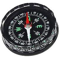 Lyanther Brújula de botón Llena de líquido Mini Supervivencia de Bolsillo para IR de excursión Acampar al Aire Libre