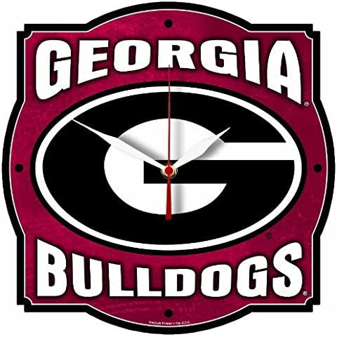 NCAA Georgia Bulldogs High Definition Clock by WinCraft