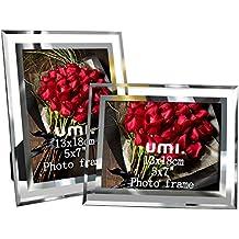 Umi. by Amazon - Cornice Foto in vetro Portafoto 13 x 18 cm (set di 2)