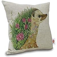 Lino cotone cuscino decorativo Amybria caso cuscino copertura, Igel, 45cm*45cm/18