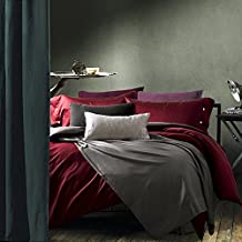 DADAO-La ropa de cama de algodón conjunto de cuatro piezas de algodón puro de alta calidad de color hojas quilt 1.2m/1.8m/2.0m cama, cama de 1,5 m, rojo