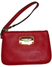 Women s Michael Kors Jet Set Item Leather Wristlet Chili Red 964f3c0bf1ef